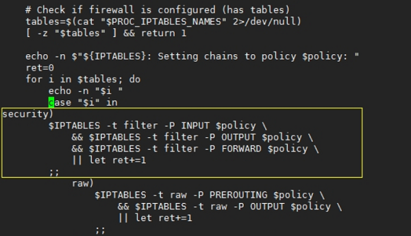 Linode VPS重启iptables出现Setting chains to policy ACCEPT: security raw nat[FAILED]filter错误解决办法